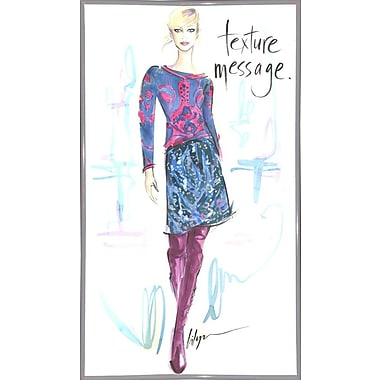 East Urban Home 'Texture Message' Print; White Metal Framed Paper