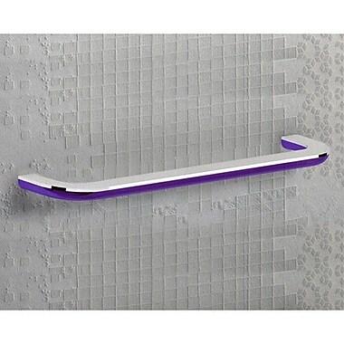 Gedy by Nameeks Bijou 21.46'' Wall Mounted Towel Bar; Transparent Lilac/Chrome