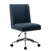 Charlton Home Lewisburg Studded Design Office Chair; Blue