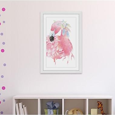 Bungalow Rose 'Flamingo Beauty' Framed Print; 45'' H x 30'' W