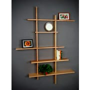 Brayden Studio Woodby 5 Level Wall Shelf; Natural