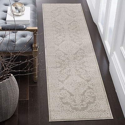 Darby Home Co Douglass Gray/Beige Area Rug; Rectangle 2'6'' x 4'