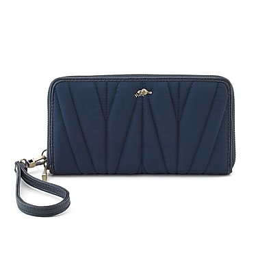 Roots 73 Zip Around Clutch Wristlet, Navy Combo (RT27471-IP-NV)