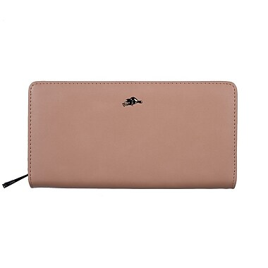 Roots 73 Large Slim Zipper Clutch, Blush (RT27677-3Z-BL)