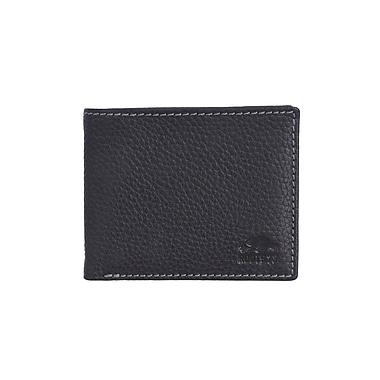 Roots 73 – Portefeuille mince avec porte-monnaie, noir (RT26251-BK)