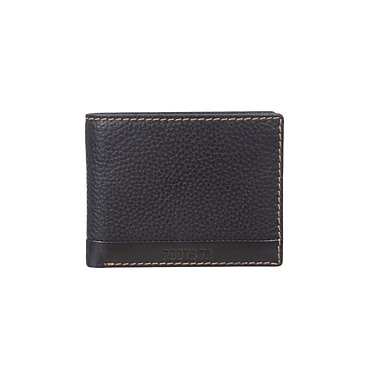 Roots 73 Slimfold Wallet W/ Removable ID Flap, Black (RT29254-R56-BK)