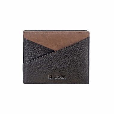 Roots 73 Slimfold Wallet W/ Removable Flap, Black (RT28552-R1-BK)