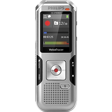 Philips 4010 Voice Tracer Audio Recorder Silver Shadow, (DVT4010/00)