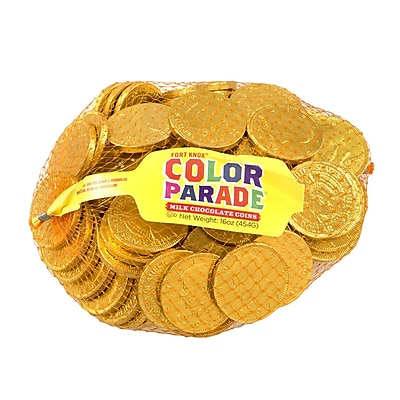 Fort Knox Milk Chocolate 1.5-inch Coins Gold Foil: 1 LB