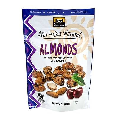 Nut'n But Natural Almonds with Cherries, Chia & Quinoa, 4 oz., 4 Pack (44015)