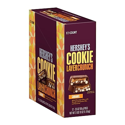 HERSHEY'S COOKIE LAYER CRUNCH Caramel, 3.5 oz, 4 Count