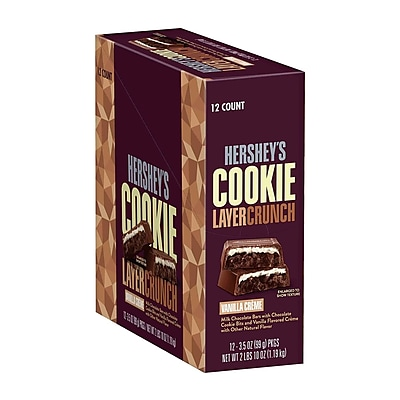 HERSHEY'S COOKIE LAYER CRUNCH Vanilla Creme, 3.5 oz, 4 Count