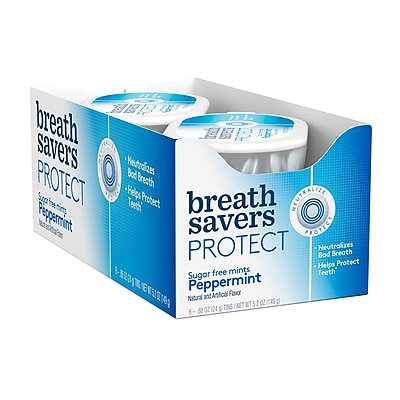 BREATH SAVERS Protect Mints in Peppermint Flavor, .88 oz, 6 Count