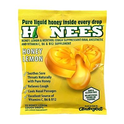 HONEES Cough Drops Honey Lemon, 20 Count, 6 Pack (404)