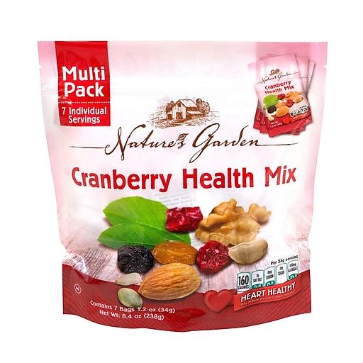 Nature's Garden Cranberry Health Mix, 1.2 oz., 7 Count, 6 Pack (07024)