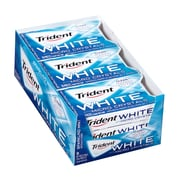 Trident White w/ Micro Crystals Sugar-Free Gum, 16 Pieces, 9 Count (131622)