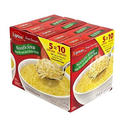 Lipton Noodle Soup Mix, 2 Pouch Box, 5 Pack (00410)