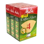Melitta Coffee Filters #4, 100 Count, 3 Pack (62414)