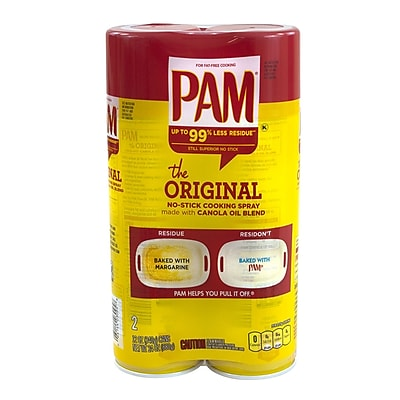 Pam No-Stick Cooking Spray, 12 oz., 2 Pack (10039352)