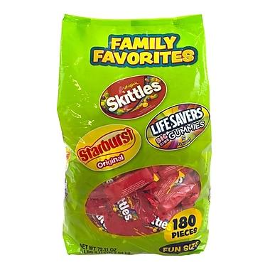 Wrigley Starburst Skittles Livesavers Family Favorites, 180 Pieces (01921)