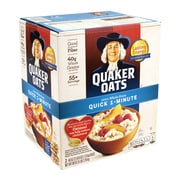 Quaker Oats Quick 1-Minute 100% Whole Grain Oats, 40 oz., 2 Pack (43532)