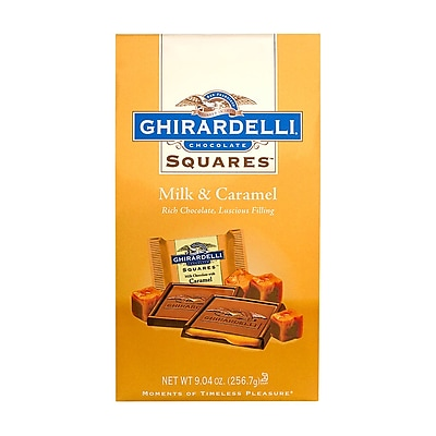 Ghirardelli Chocolate Squares Milk & Caramel, 9.04 oz., 2 Pack (62242)