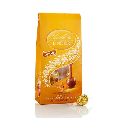 Lindor Milk Chocolate Caramel Truffles, 8.5 oz., 2 Pack (L00559)