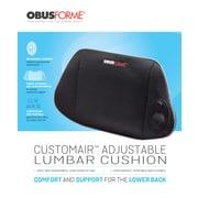 Obusforme SC-ALC-BK CustomAir Adjustable Lumbar Cushion, Black