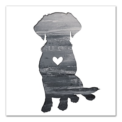 East Urban Home 'Ink Silhouette Lab' Graphic Art Print on Wrapped Canvas in Gray; 12'' H x 12'' W