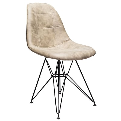 Williston Forge Cristopher Checkerboard Side Chair; Light Brown