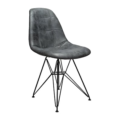 Williston Forge Cristopher Checkerboard Side Chair; Gray