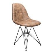 Williston Forge Cristopher Checkerboard Side Chair; Dark Brown