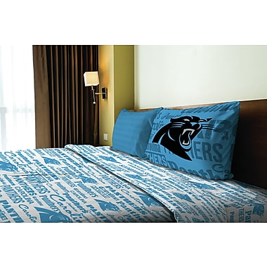 Northwest Co. NFL Panthers Anthem Microfiber Sheet Set; Twin