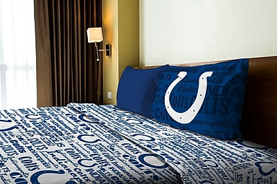 Northwest Co. NFL Colts Anthem Microfiber Sheet Set; Twin
