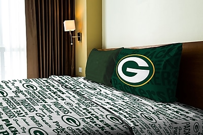 Northwest Co. NFL Packers Anthem Microfiber Sheet Set; Twin