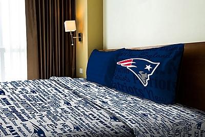 Northwest Co. NFL Patriots Anthem Microfiber Sheet Set; Twin