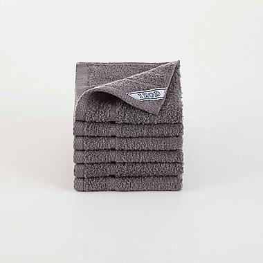 IZOD Performance Washcloth (Set of 6); Night Gray