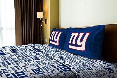 Northwest Co. NFL NY Giants Anthem Microfiber Sheet Set; Full