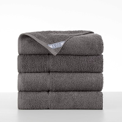 IZOD Performance Bath Towel (Set of 4); Night Gray