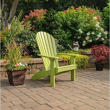 Highland Dunes Altoga Poly Adirondack Chair; Lime Green