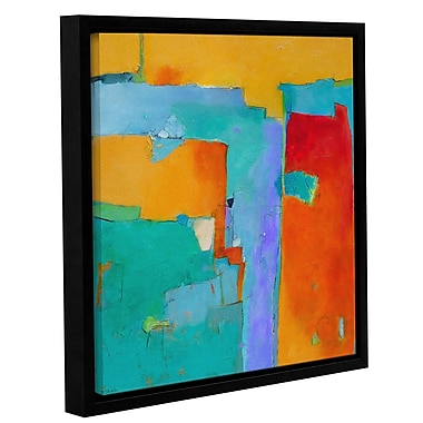 Latitude Run 'Shades of a City' Framed Painting Print on Canvas; 14'' H x 14'' W x 2'' D