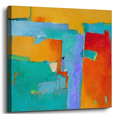 Latitude Run 'Shades of a City' Painting Print on Canvas; 14'' H x 14'' W x 2'' D