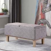 Ophelia & Co. Rafal Upholstered Storage Bench; Gray