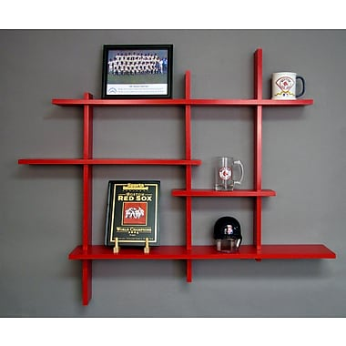 Brayden Studio Woodberry 4 Level Wall Shelf; Red