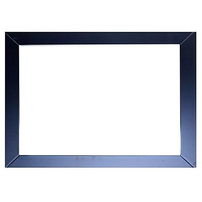 Brayden Studio Zeno Glass Frame Bathroom Vanity Mirror; Gray