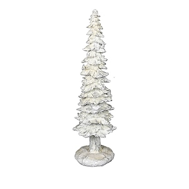 The Holiday Aisle 1.64' White Artificial Christmas Tree; 23.5'' H x 6.25'' W x 6'' D