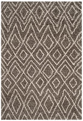 Williston Forge Cammie Gray/Ivory Area Rug; Square 7'
