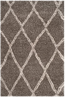 Varick Gallery Elizabeth Street Gray/Ivory Area Rug; Rectangle 6' x 9'