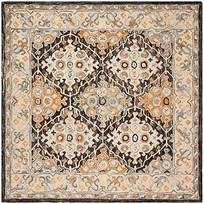 Bloomsbury Market Garvin Hand-Tufted Wool Beige/Brown Area Rug; Rectangle 5' x 8'