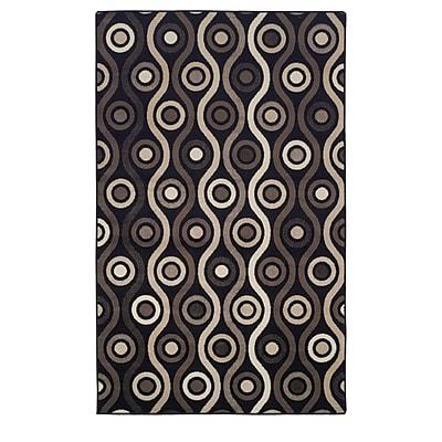 Ebern Designs Azaleh Archer Black Area Rug; 8' x 10'